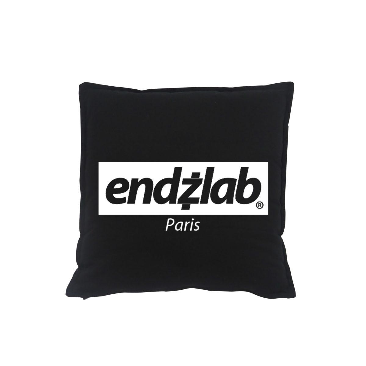 Endzlab Logo Pillow Black