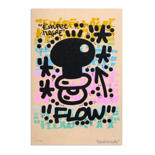 El Xupet Negre – Screen Print – Brown Paper