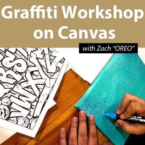 Graffiti Workshop on Canvas 08/02/2020 11h-13h30
