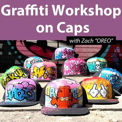 Graffiti Workshop on Caps 01/02/2020 11h-13h30